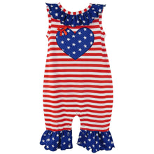 Fourth of July I Heart America Flag Baby - Rewards Bonanza