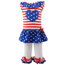 Big Little Girls' 4th of July Star Heart - Rewards Bonanza