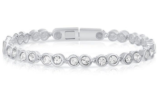 Infinity Tennis Bracelet made Swarovski Crystals - Rewards Bonanza