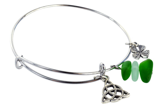 Trinity Knot Adjustable Bangle Bracelet - Rewards Bonanza