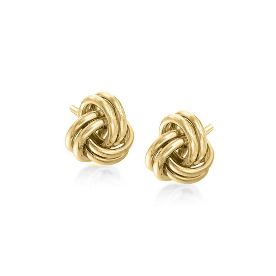 Twist Stud Earringin 18K Gold Plated - Rewards Bonanza
