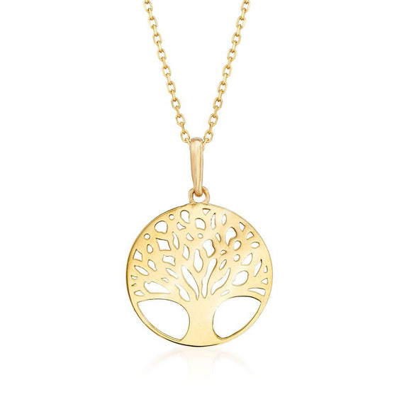 Classic Mother of Tree of Life Necklace in 18K Gold Plated - Rewards Bonanza
