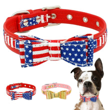 Bowknot America Dog Collar Soft Puppy Dog Cat - Rewards Bonanza
