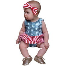 Casual  Baby Girls Clothing Set 4th Of July Star - Rewards Bonanza