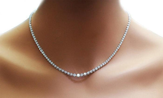42.00 CTTW Cubic Zirconia Tennis Necklace - Rewards Bonanza