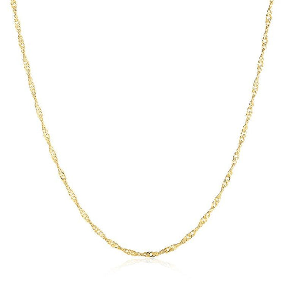 14K Gold Plated 2mm Chain Necklaces For Men and Women - Rewards Bonanza