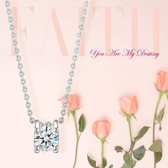 1.00 Ct Diamond Created Necklace - Rewards Bonanza