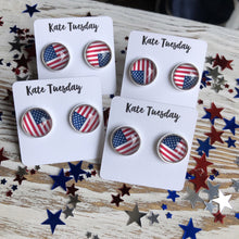 American Flag Earrings 4th of July - Rewards Bonanza