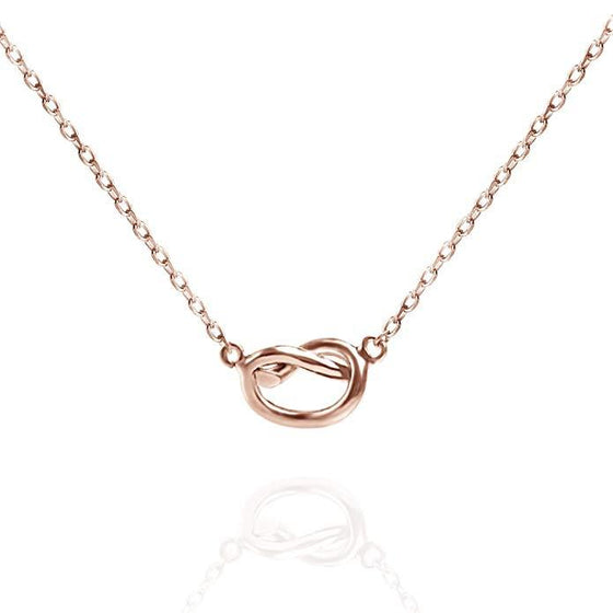 "Trendy Twist Necklace 18""  - 14K Rose Gold Plated - Rewards Bonanza"