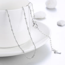1.5MM*46CM 5CM 18K White Gold Plated Twisted Roc Chain Necklace - Rewards Bonanza