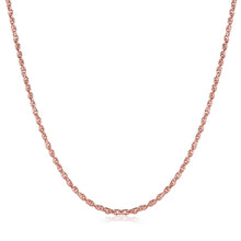 1.5MM*65CM+5CM 18K Rose Gold Plated Mini Twisted Chain Necklace - Rewards Bonanza
