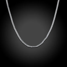 18K White Gold Plated  French Chain Necklace - Rewards Bonanza
