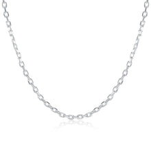 18K White Gold Plated  Mini Link Chain Necklace - Rewards Bonanza