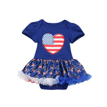 Kids Baby Girls My First 4th of July Romper - Rewards Bonanza
