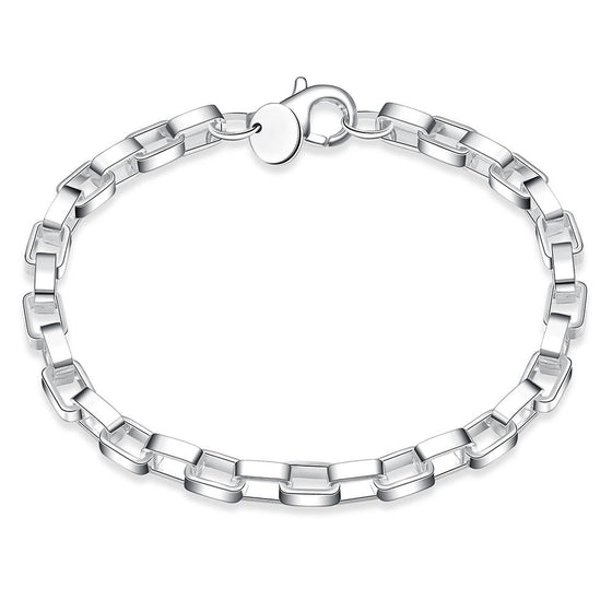 Silver Box Designed Bracelet - Rewards Bonanza