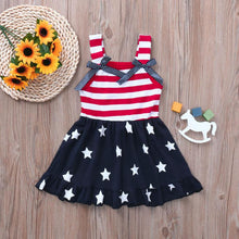 Lovely little girls Dress Star Print 4th Of July - Rewards Bonanza