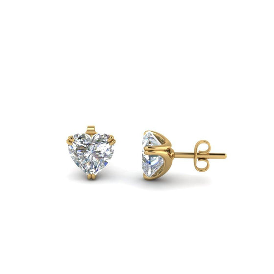 Heart Stud Earrings Made Swarovski Elements in Sterling Silver Plated - Rewards Bonanza