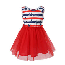 Striped Print Cute Children Kid Girls 4th Of July - Rewards Bonanza