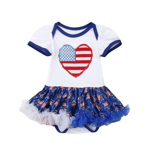 Summer Lovely My First 4th of July Kids Baby Girls - Rewards Bonanza