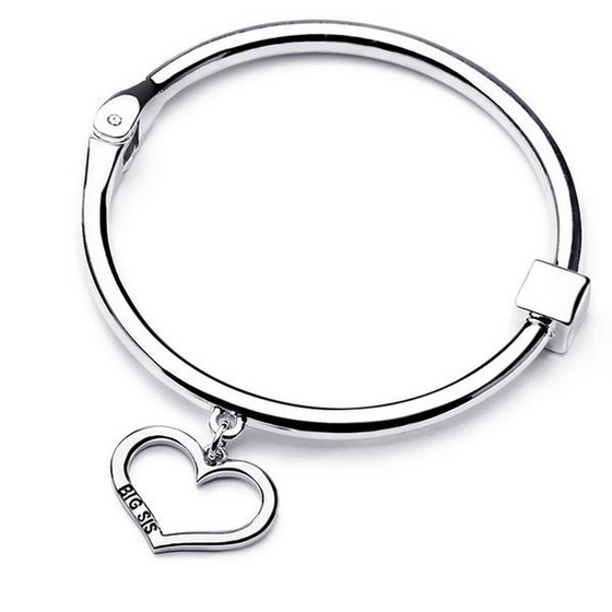 Big Sis Lil Sis Charm Bangle Set (Ships From USA) - Rewards Bonanza
