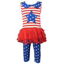 Big Little Girls' 4th of July Red White - Rewards Bonanza