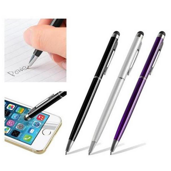 2in1 Screen Touch Pen Stylus Ballpoint Pen iphone (Ships From USA) - Rewards Bonanza