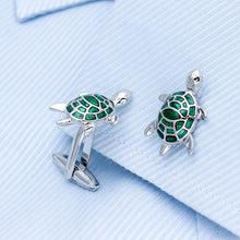 Green Turtle Cufflinks - Rewards Bonanza