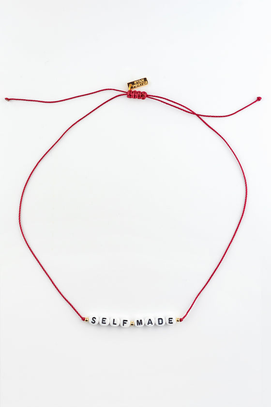 CUSTOM MESSAGE COLORED THREAD NECKLACE - Rewards Bonanza