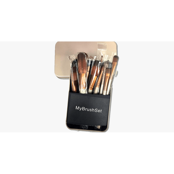 12 Piece Bare Bronze Brush Set (Ships From USA) - Rewards Bonanza