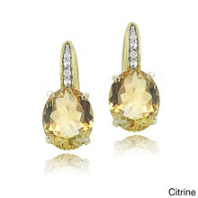 1.50 Ct Oval Cut Yellow Pave crystals Stud Earringin 18K Gold Plated - Rewards Bonanza