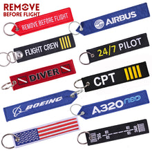 Remove Before Flight Car Keychains Berloques Red Embroidery Highlight Key Fobs Chains Jewelry Aviation Gifts Chaveiro Masculino - Rewards Bonanza