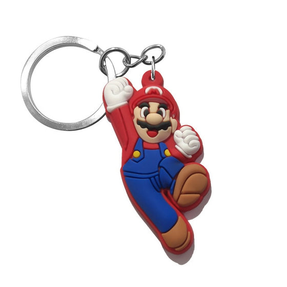 1pcs Keychain PVC Cartoon Figure Mickey Super Mario Key Chain Mini Anime Key Ring Minnie Key Holder Fashion Charms - Rewards Bonanza
