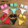 OMKAGI Bandeau Bikini 2020 Swimsuit Women Swimwear Biquinis Sexy Push Up Swimming Bathing Suit Beachwear Micro Bikini Set - Rewards Bonanza