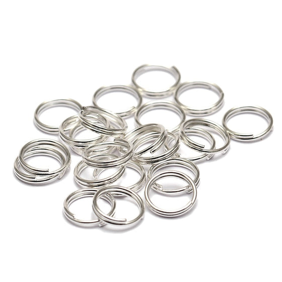 200pcs/lot 5 6 7 8 10 12 14 mm Open Jump Rings Double Loops Gold Color Split Rings Connectors Jewelry Making - Rewards Bonanza