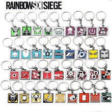 2019 Game Rainbow Six 6 Siege Key Chains Men Tachanka Echo Kapkan Lesion Smoke Sledge Hibana Key Ring Holder Porte Clef Jewelry - Rewards Bonanza