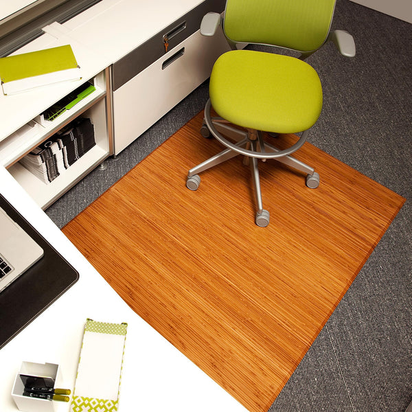 Plush Bamboo Chair Mat (No Lip)