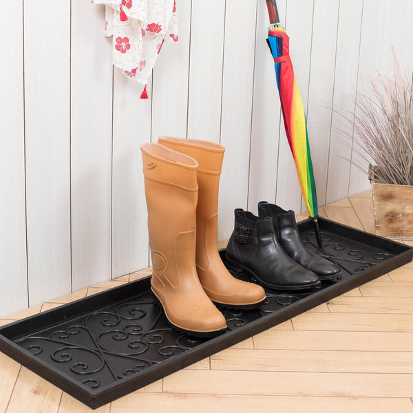 Rubber Boot Tray - My Blue Heaven (007)