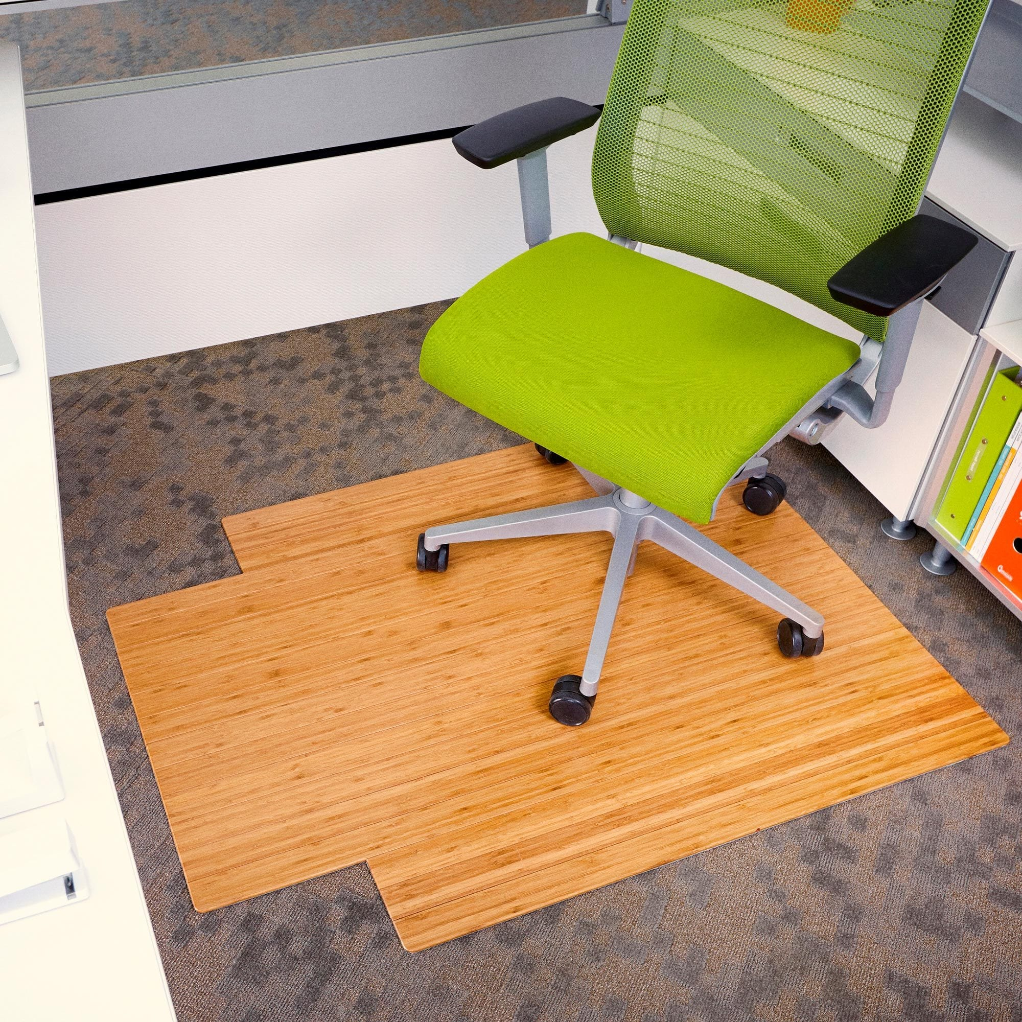 Standard Bamboo Chair Mat (With Lip)