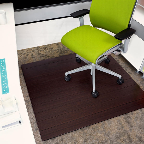 Deluxe Bamboo Chair Mat (No Lip)