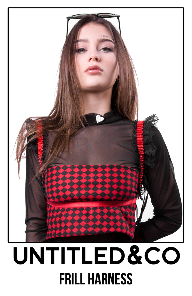 Harlequin Frill Harness - streetwear - Untitled&Co