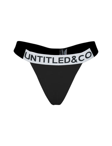 Kiki Thong in Black - streetwear - Untitled&Co