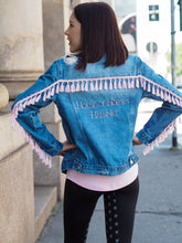 Load image into Gallery viewer, DANCE WITH ME DENIM JACKET