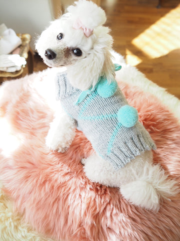 PomPom Pullover Mint