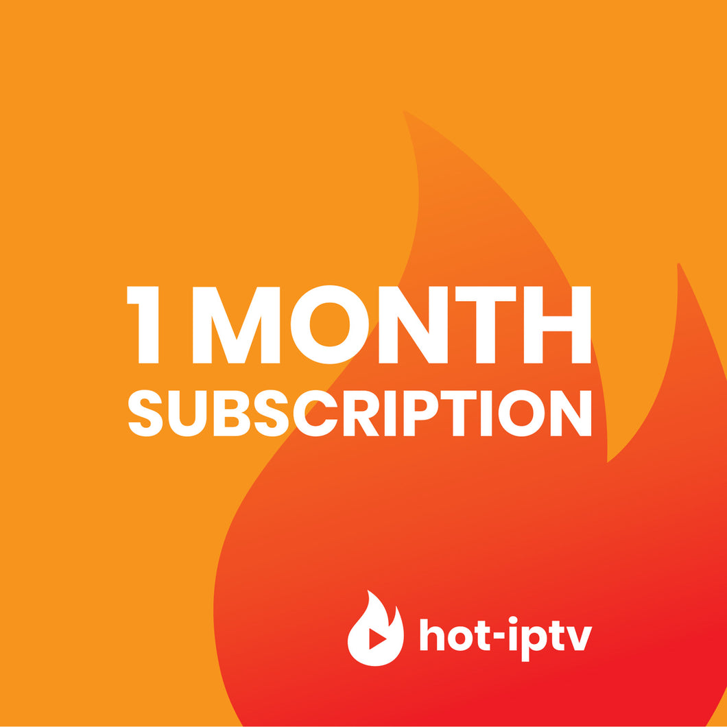 1 Month Subscription IPTV