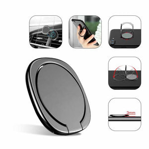 Metal Mobile Phone Socket Holder Universal 360 Degree Rotation