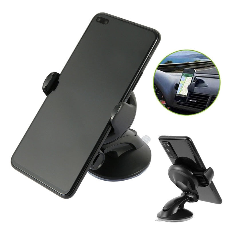 360 Rotation Car Bracket Black Windscreen Suction Mount Mobile Phone Holder
