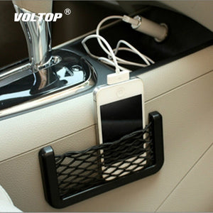 Car Net String Box Pocket Organizer Bags Baskets Mobile Phone Holder