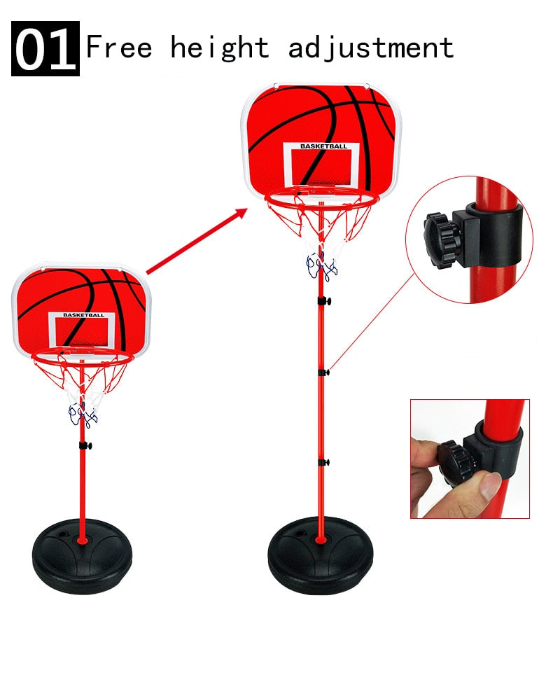 63-165cm liftable children's basketball rack shooting indoor household
