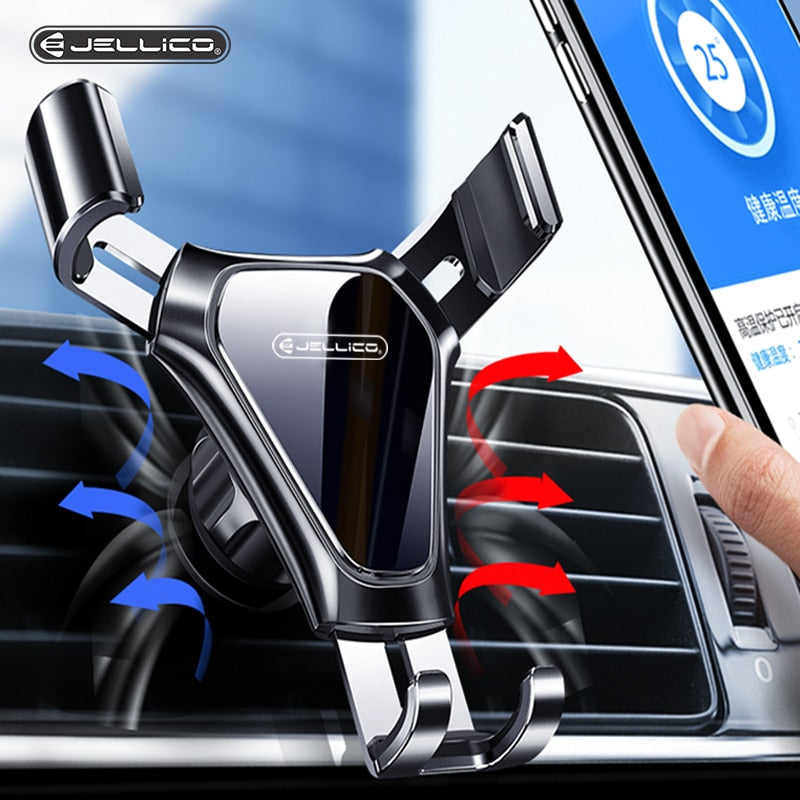 Jellico Gravity Car Phone Holder Air Vent Clip Mount