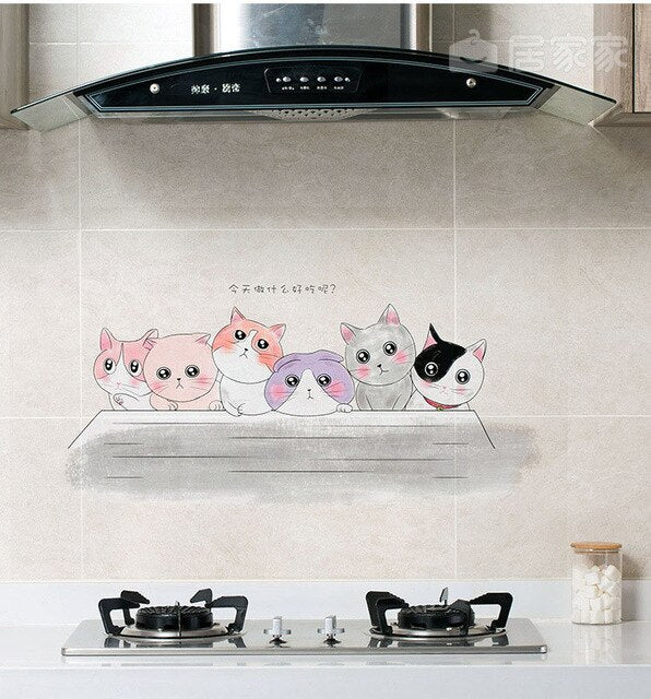 Home Decoration Transparent Oilproof-Waterproof Wall Stickers